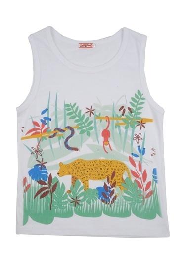 Zeyland Beyaz Orman Baskılı Kolsuz T-Shirt (9ay-4yaş) Beyaz Orman Baskılı Kolsuz T-Shirt (9ay-4yaş) Beyaz